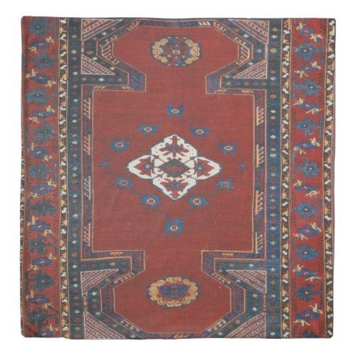 Antique Oriental Persian Turkish Carpet Duvet Cover
