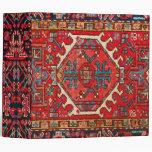 Antique Oriental Turkish or Persian Carpet Print Vinyl Binders