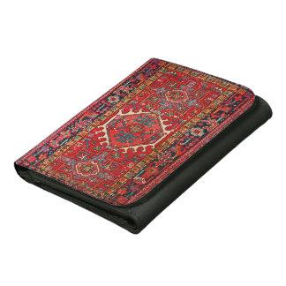 Antique Oriental Turkish or Persian Carpet Print Trifold Wallet