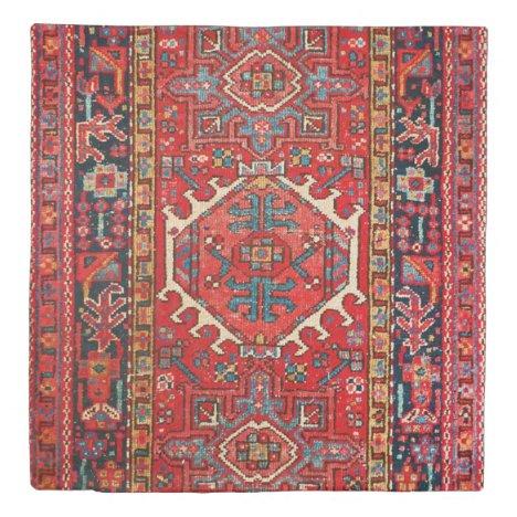 Antique Oriental Turkish Persian Carpet Duvet Cover