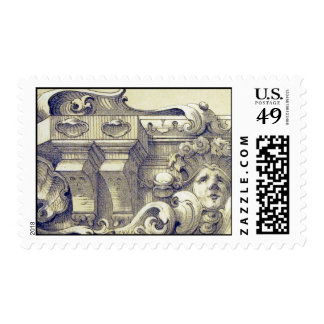 Antique ornament postage stamp