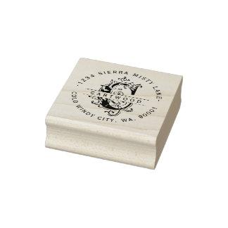 Antique Ornamental Letter C Last Name Address Rubber Stamp