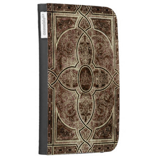 Antique ornate leather book cover cases for the kindle