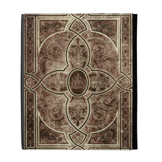 Antique ornate leather book cover iPad folio covers