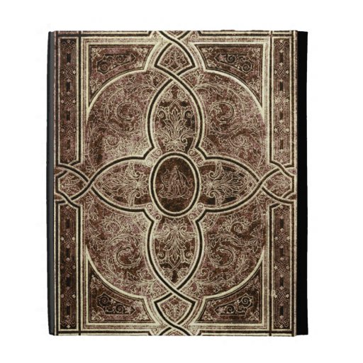 Antique ornate leather book cover iPad folio covers