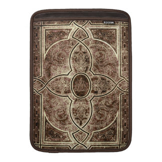 Antique ornate leather book cover MacBook air sleeves