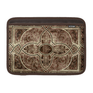 Antique ornate leather book cover MacBook air sleeve