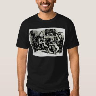 Antique Otto Speckter Cat Print T-shirt