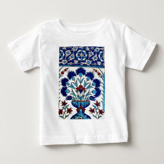 Antique Ottoman  Floral Tile Design Baby T-Shirt