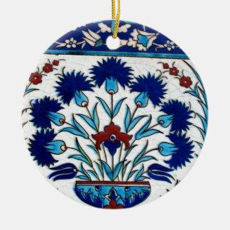 Antique Ottoman  Floral Tile Design Ceramic Ornament