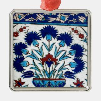Antique Ottoman  Floral Tile Design Metal Ornament