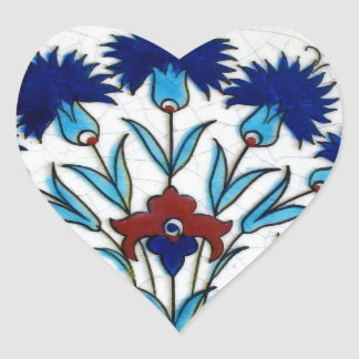 Antique Ottoman  Floral Tile Design Sticker