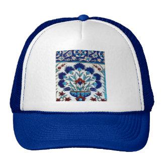 Antique Ottoman  Floral Tile Design Trucker Hat