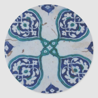 Antique Ottoman Tile Design Classic Round Sticker