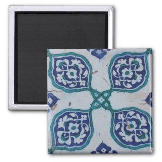 Antique Ottoman Tile Design Fridge Magnet