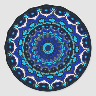 Antique Ottoman Tile Design STAR PATTERN Classic Round Sticker