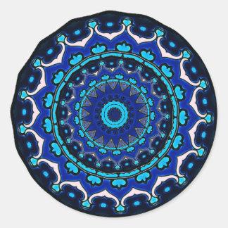 Antique Ottoman Tile Design STAR PATTERN Round Stickers