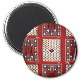 Antique Ottoman Weaving 2 Inch Round Magnet