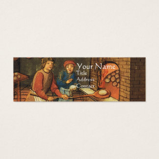 ANTIQUE OVEN  BAKER ,BAKERY BREAD SHOP MINI BUSINESS CARD