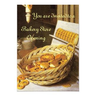 ANTIQUE OVEN  BAKERY BREAKFEAST PARTY CARD