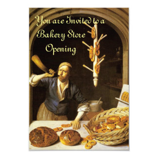ANTIQUE OVEN  BAKERY BREAKFEAST PARTY RSVP CARD