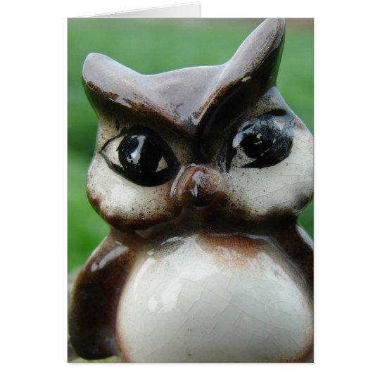 Antique Owl Card