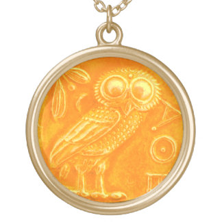 ANTIQUE OWL GOLD PLATED NECKLACE