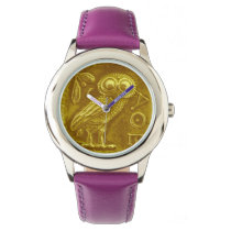 ANTIQUE OWL Gold Yellow Wristwatch