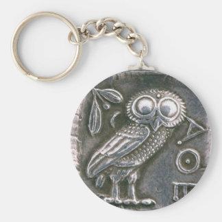 ANTIQUE OWL KEYCHAIN