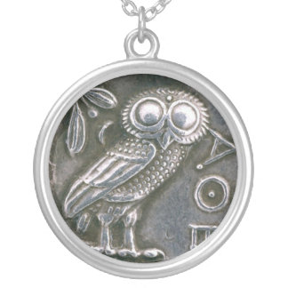 ANTIQUE OWL SILVER PLATED NECKLACE