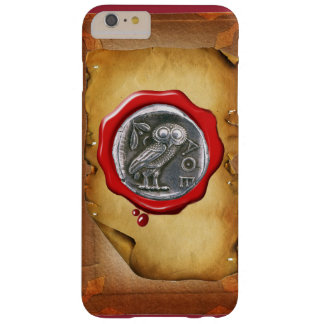 ANTIQUE OWL SILVER RED WAX SEAL parchment Barely There iPhone 6 Plus Case