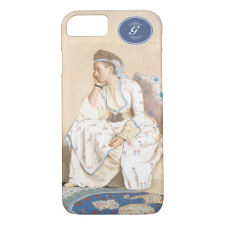 Antique painting. Liotard- (1756) Turkish dress. iPhone 7 Case
