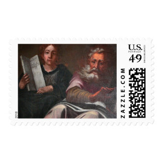 Antique Painting Postage Stamp