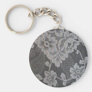 Antique Paisley Alencon Lace Keychain