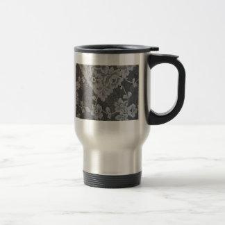 Antique Paisley Alencon Lace Travel Mug