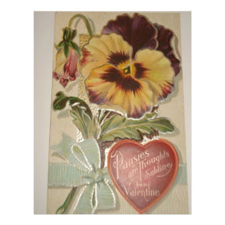 Antique Pansies Love Valentine Flyer