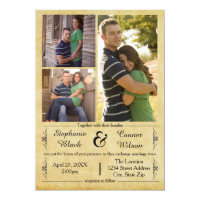 Antique Paper 3 Photos - Wedding Invitation