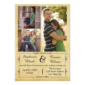 Antique Paper 3 Photos - Wedding Invitation
