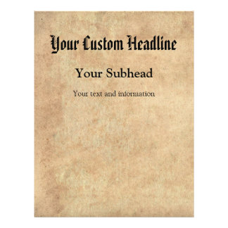 """Antique Paper Background Custom Text 8.5"""" X 11"""" Flyer"""