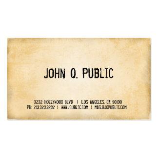 Antique Paper Business Card