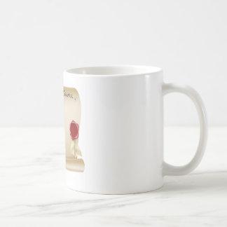 Antique paper document coffee mug