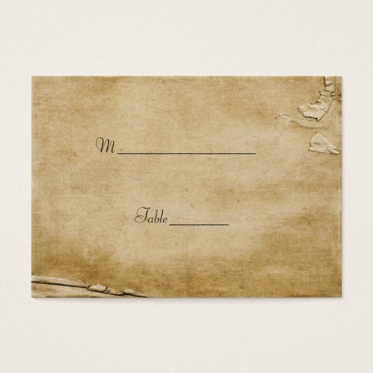 Antique Paper Table Place Card