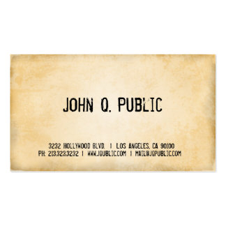 Antique Paper Texture Business Card