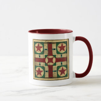 Antique Parcheesi Game Board by Ethan Harper Mug