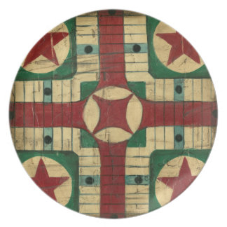 Antique Parcheesi Game Board by Ethan Harper Plate