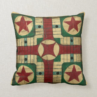 Antique Parcheesi Game Board by Ethan Harper Throw Pillow
