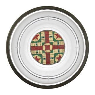 Antique Parcheesi Game Board by Ethan Harper Pet Bowl