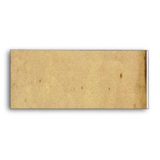 Antique Parchment and Brass Plaque Envelope