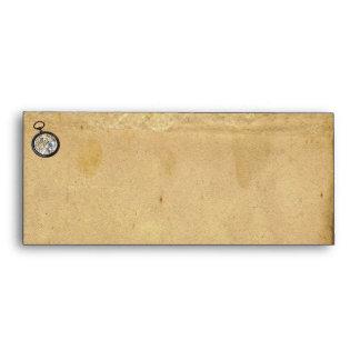 Antique Parchment and Compass Envelope