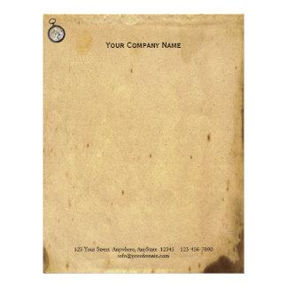 Antique Parchment and Compass Letterhead